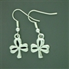 Pewter Shamrock Earrings (#JPEW6065)