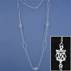 Pewter Long Luckenbooth Necklace (#JPEW6066)