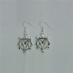 Pewter small Luckenbooth Earrings (#JPEW6071)