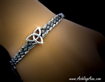 """The Strength of Three,"" Trinity Celtic knot Bangle Bracelet (#JPEW7001)"