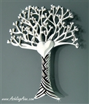 Pewter  Tree of Love Brooch(JPEW7019)