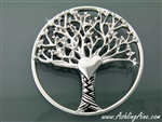 Pewter Round Tree of Love Brooch( JPEW7020)