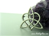 Large Pewter Sister/Family Knot Brooch(JPEW7021)
