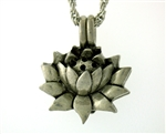 Pewter Blooming Lotus flower Essential Oil/Perfume Diffuser(JPEW8017)