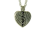 "Winged Angel Heart Essential oil/Perfume Aromatherapy Diffuser Pendant with 24"" chain(jpew8018)"