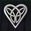 Pewter Butterfly Celtic Heart Trinity Pin (Jpew6079)