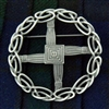 Pewter St Brigid's Cross Pin/Pendant (Jpew6080)