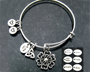 """Love Grows"" Adjustable bangle"