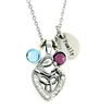 A Mother's Love Birthstone Charm Necklace Family (Mac-BS-CN)