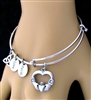 """I Give You My Heart"" Claddagh Charm Bangle (MyHeartCB)"