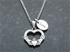"""I Give You My Heart"" Claddagh Charm Necklace (MyHeartCN)"