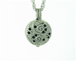 Pewter Oriental Dome Diffuser necklace MADE IN THE USA  (pew103)