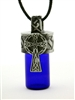 "Pewter Celtic Cross Aromatherapy Keepsake Vial 36"" Cord (#PEW728)"