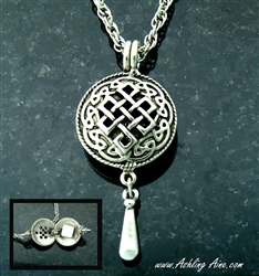 "Pewter Celtic Knot Diffuser Pendant on 24"" Chain (#PEW8014)"