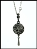 "Pewter Hummingbird Diffuser Pendant on 24"" Chain (#PEW8015)"