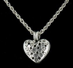 Lovely Heart Diffuser Necklace MADE IN THE USA  (pew105)