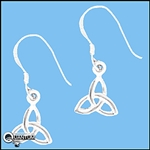 Sterling Silver Small Celtic Trinity Knot Earrings (#Q1234)
