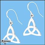 Sterling Silver Celtic Trinity Knot Earrings (#Q1239)