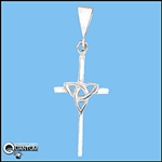 Sterling Silver Trinity Knot Cross Pendant (#Q3025)