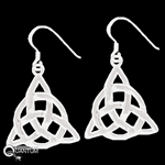 Sterling Silver Trinity Knot w/ Eternity Circle Earrings (#Q656E)