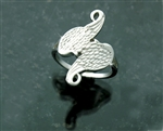 Sterling Silver Angel Wings Ring(QR717)