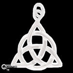 Sterling Silver Trinity Knot Pendant (#QT16)