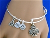 Shamrock Charm bangle USA ( RPEW1)