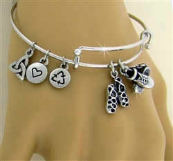 """Celebration"" of Irish Dance Charm Bangle (RPEW31)"