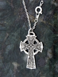 "Bold Reversible Celtic High Cross on 18"" chain"