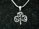 """The Journey""  Shamrock/Triskel  Necklace(S102WC)"