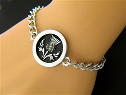Handsome Scottish Thistle Bracelet