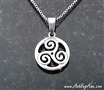 "Triskelion pendant, ""The Journey"""