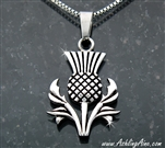 Bold and Beautiful Scottish Thistle Necklace(S180WC)