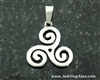 Triskelion Celtic Pendant , Triskele ,Irish, Scottish , Welsh, Faith Symbol ( S197)