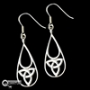 316 L Stainless Steel Celtic Trinity Knot Earrings (#S20)
