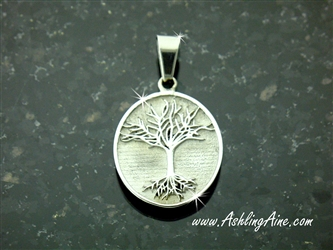 Family Tree Pendant in 316 L Stainless Steel (S207)