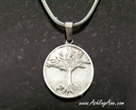 Large Family Tree Pendant, Stainless Steel Pendant, Oval Disk Family Tree Pendant, Celtic Family Pendant, S208