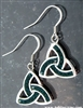 "Emerald Green ""Evening in Ireland""  Trinity Earrings (S22GREEN)"