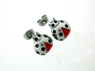 Lady Bug Post Earrings (s239)