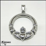 Stainless Steel Claddagh Pendant (#S27)