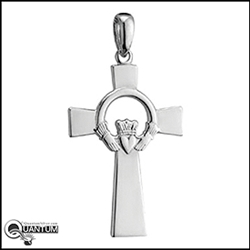 316 L Stainless Steel Claddagh Cross (#S29)