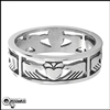 Stainless Steel Claddagh Band Ring (#S35b