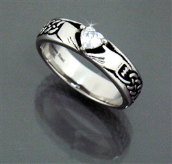 316 L Stainless Steel Claddagh Ring (#S7)