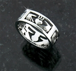 316L Stainless Steel Claddagh Band (S70)