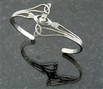 "Modern ""Take Me Home"" Claddagh & Trinity Cuff (S71)"