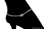316 L Stainless Steel Traditional Claddagh Anklet ( S77)