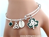 """Celebrating St. Patrick""  Bangle Charm Bracelet (S89bangle)"