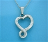 """Eternal Love,"" an Infinity Heart Bold Necklace (S92 large)"