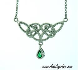 Emerald Angel Wing Necklace