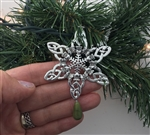 CELTIC Claddagh Connemara SnowWonders® Snowflake ORNAMENT, (5058connemardrop), Irish Snowflake, Claddagh Ornament, Wedding Celtic Ornament